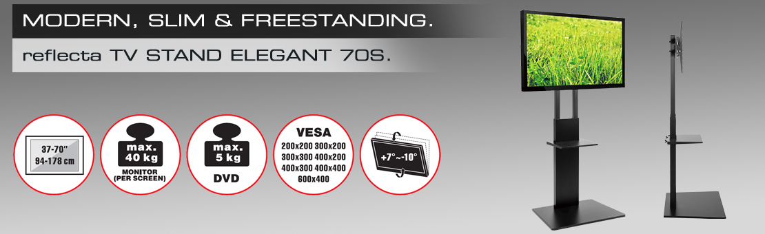 reflecta TV Stand Elegant 70S black